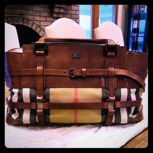 Burberry Haymarket hand bag!